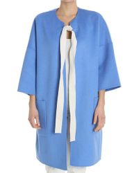 Sofie D'Hoore - Light-blue Oversize Coat - Lyst
