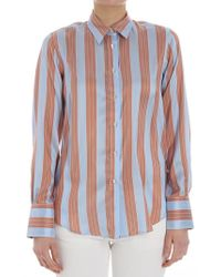 Le Sarte Pettegole - Striped Silk Shirt - Lyst