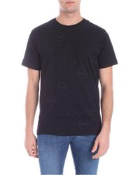 Colmar - Black T-shirt With All-over Logo Print - Lyst