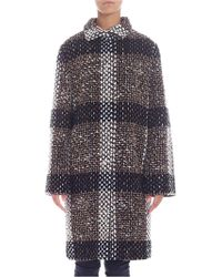 """Gianluca Capannolo - """"taylor"""" Black And Beige Coat - Lyst"""