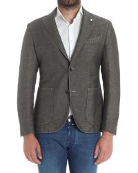 Luigi Bianchi Mantova - Dove Colored Houndstooth Jacket - Lyst
