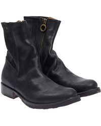 Fiorentini + Baker - Textured Leather Ankle Boots - Lyst