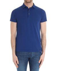 Drumohr - Electric Blue Cotton Polo - Lyst