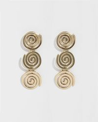 Modern Weaving - Stacked Petite Coil Earrings - Lyst