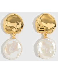 Lizzie Fortunato - Coin Reflection Earrings - Lyst