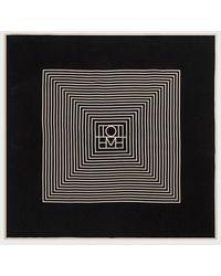 Totême  - Black Monogram Venezia Scarf - Lyst