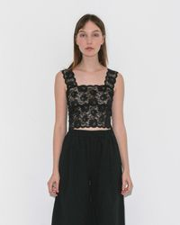 MM6 by Maison Martin Margiela - Stretch Lace Camisole - Lyst