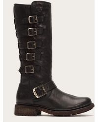Frye - Valerie Belted Tall Shearling - Lyst