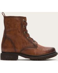 Frye - Valerie Lace Up Shearling - Lyst