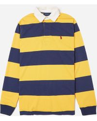 24599a338 Polo Ralph Lauren Striped Rugby Shirt in Blue for Men - Lyst