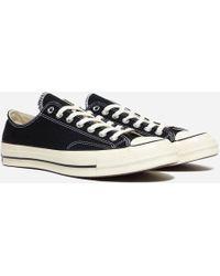 1933a474f87f Lyst - Converse Chuck Ii Perforated Metallic Low Top Sneaker in ...
