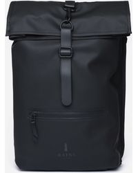 8bc745d230 Barneys New York Dry Duck Canvas Roll Top Backpack in Black for Men ...