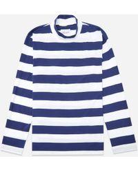 Albam - Striped Funnel Neck Long Sleeve T-shirt - Lyst