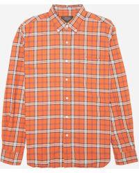 e8ed8419974 Beams Plus Button-Down Collar Checked Cotton Shirt in Blue for Men ...