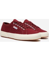 Superga - 2750 Cotu Classic Women's Shoes (trainers) In Red - Lyst