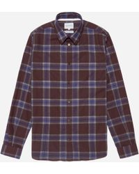 Norse Projects | Osvald Melange Twill Check Shirt | Lyst