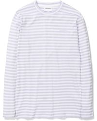 Norse Projects - James Logo Stripe Ls Heather - Lyst