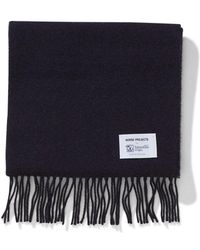 Norse Projects - Norse X Johnstons Lambswool Scarf Dark Navy - Lyst