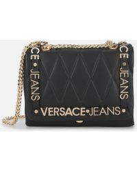 Versace Jeans - Quilted Logo Chain Bag - Lyst