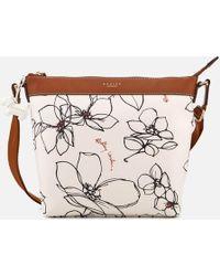 Radley - Linear Flower Medium Zip-top Cross Body Bag - Lyst