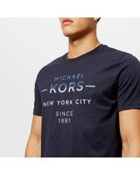 Michael Kors - Double Take Logo Graphic Short Sleeve T-shirt - Lyst