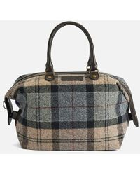 Barbour - Women's Munro Tartan Mini Holdall Bag - Lyst