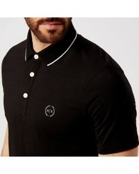 Armani Exchange - Slim Tipped Polo Shirt - Lyst