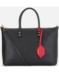 Lulu Guinness - Frances Medium Tote Bag With Lip Charm - Lyst