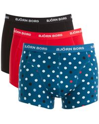 Björn Borg - 3 Pack Contrast Dot Detail Boxers - Lyst