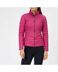 Joules - Elodie Chevron Quilted Jacket - Lyst