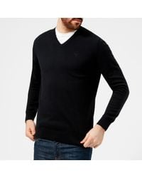 Barbour - Pima Cotton V-neck Knitted Jumper - Lyst