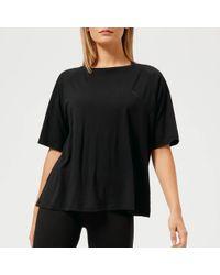 8293b219ef8 PUMA High-neck Long-sleeve Crop Top in Black - Lyst