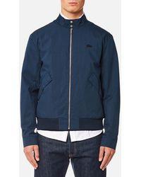 Lacoste - Zipped Blouson Jacket - Lyst