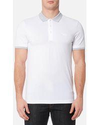 BOSS Green - Paule Collar Detail Polo Shirt - Lyst
