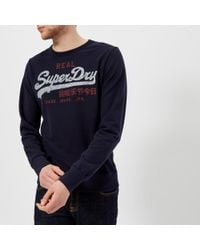 Superdry - Vintage Logo Duo Lite Weight Crew Sweatshirt - Lyst