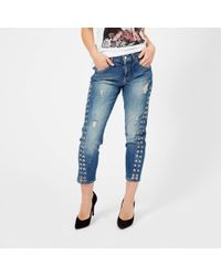 Guess | Vanille Eyelet Jeans | Lyst