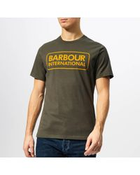 Barbour - Essential Large Logo T-shirt In Green - Lyst