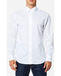 GANT - Tech Prep Chambray Solid Shirt - Lyst