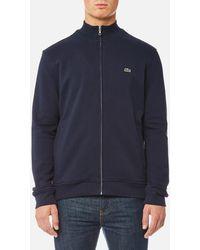 Lacoste - Zipped Sweatshirt - Lyst