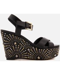 MICHAEL Michael Kors - Sia Suede Wedged Sandals - Lyst