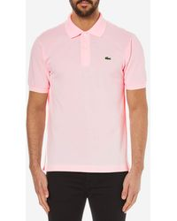Lacoste - Men's Knit Cotton Polo - Red - Size 7 (xxl) - Lyst