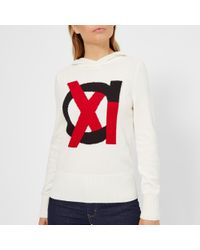 Armani Exchange - Knitted Hooded Jumper - Lyst