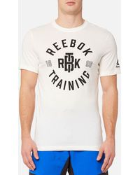 Reebok - Training Short Sleeve T-shirt - Lyst