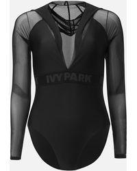 Ivy Park - Regal Drape Mesh Hooded Body - Lyst