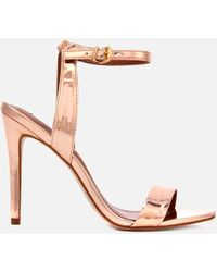 f1f0af48131 Steve Madden - Landen Barely There Heeled Sandals - Lyst