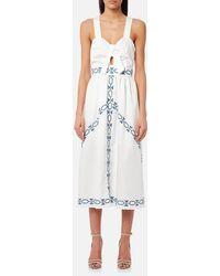 Foxiedox - Spellgirl Embroidery Midi Dress - Lyst