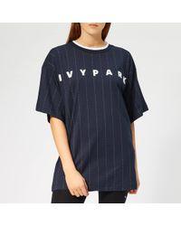 Ivy Park - Pinstripe T-shirt - Lyst