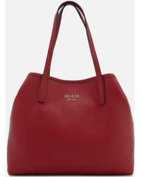 Guess - Vikky Plain Small Tote Bag - Lyst