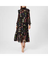 Ted Baker - Simarra Florence Midi Long Sleeve Dress - Lyst