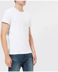 Superdry - Vintage Authentic Embossed T-shirt - Lyst